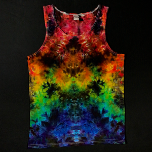 Men's Medium Psychedelic Rainbowscape Ice Dye Tank Top