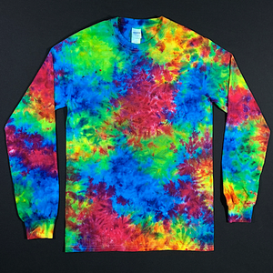 Size Small Marbled Superman Long Sleeve Tie Dye Shirt