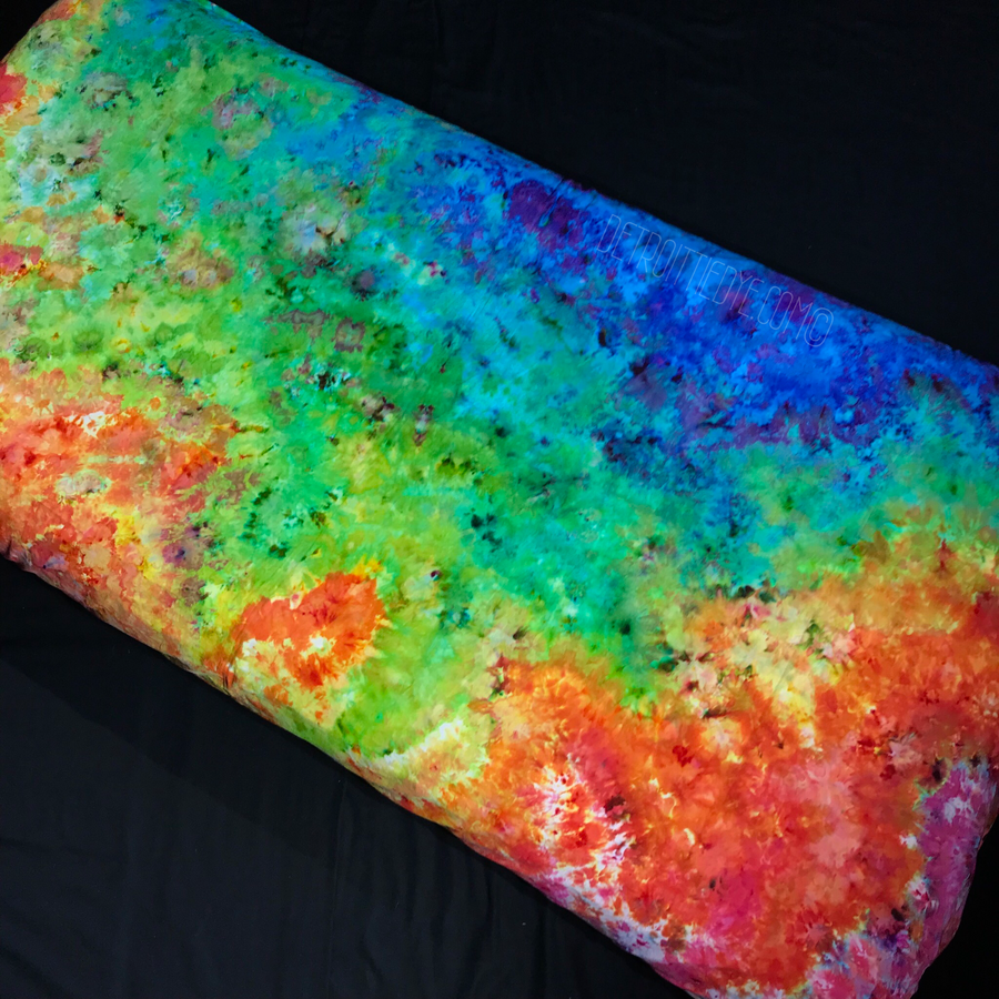 Custom Made Rainbow Splatter Ice Dye Fitted Sheet