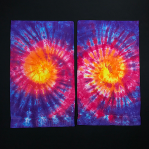 Set of Two (2) Custom Made Sunset Tie Dye Pillowcases
