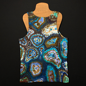 Men's Medium Oceanic Geode Tie Dye Tank Top