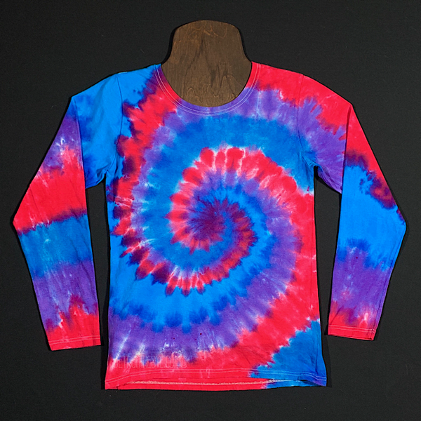 Women's Small Cloud 9 Long Sleeve Tie Dye Shirt
