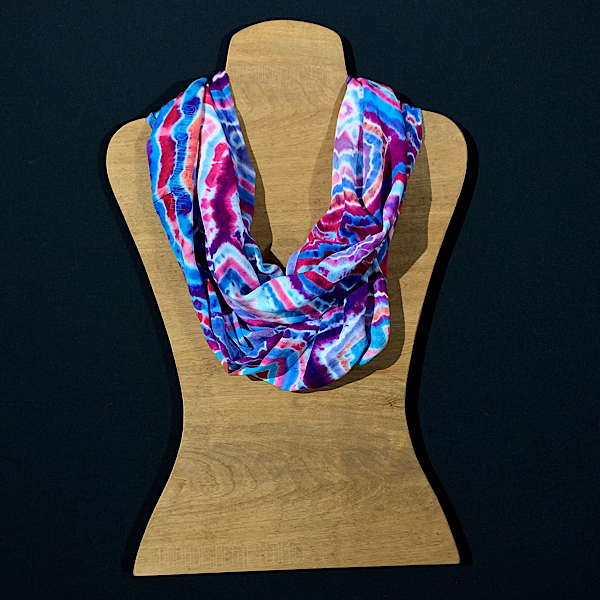 Cotton Candy Geode Tie Dye Infinity Scarf