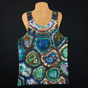Men's Large Oceanic Geode Tie Dye Tank Top