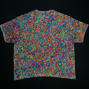 Size 4XL Rainbow Pebbles Splatter Pattern T-Shirt