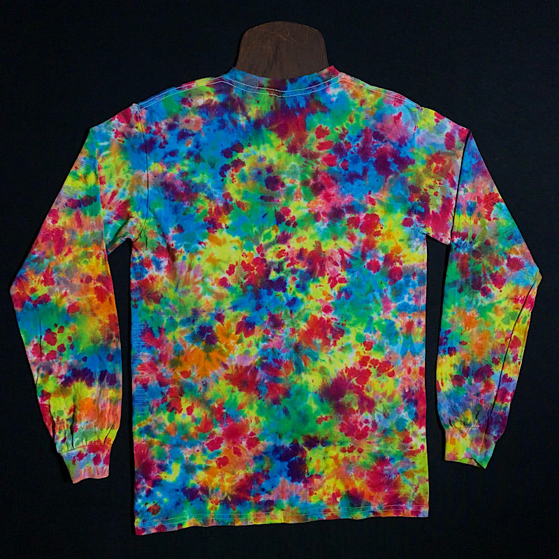 Size Small Rainbow Splatter Tie Dye Long Sleeve Shirt