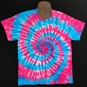 Cotton Candy Spiral Tie Dye T-Shirt (Sizes SM-3XL)