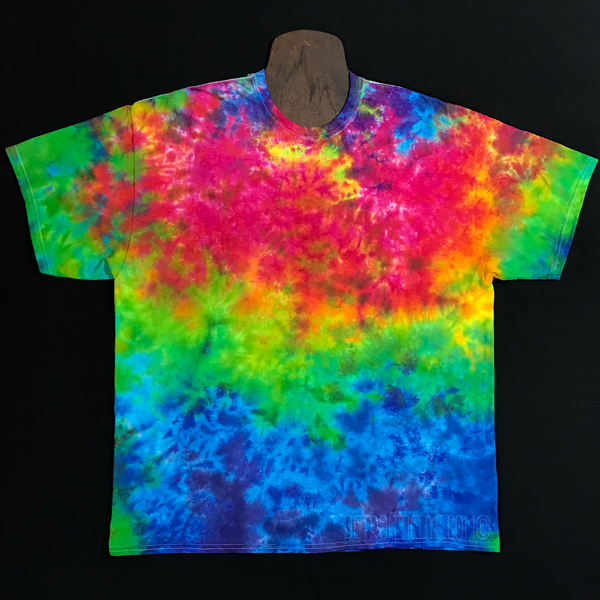 Neon Rainbow Marbled Tie Dye T-Shirt (Sizes SM-3XL)