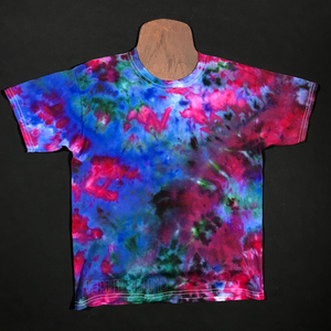 Youth Size Large Marbled Splatter Ice Dye T-Shirt