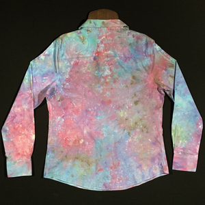 Women's Large Button Down Tie Dye Shirt