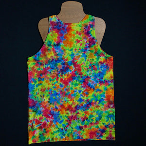 Size Medium Rainbow Splatter Ice Dye Tank Top