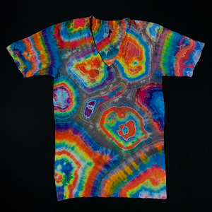Size Small Sunset Geode V-Neck Tie Dye T-Shirt