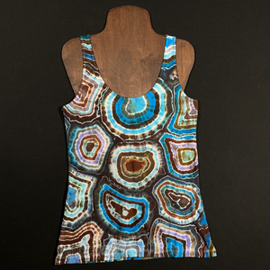 Women's Medium Blue Agate Geode Tie Dye Tank Top
