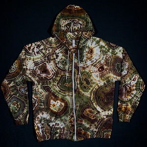 Size XL Earthy Agate Geode Zip-Up Hoodie