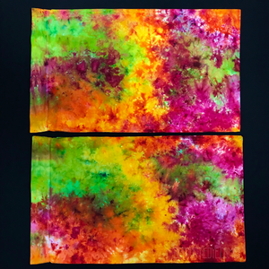 Neon Rainbow Splatter Tie Dye Pillowcases