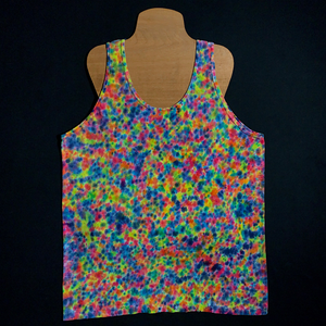 Size Large Rainbow Pebbles Splatter Pattern Tank Top