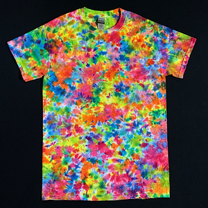 Size Small Rainbow Splatter Tie Dye T-Shirt