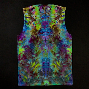 Men's Medium Psychedelic Mindscape Ice Dye Muscle Tank