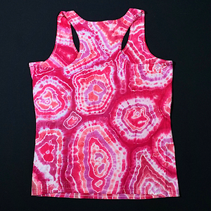 Women's Medium Bubblegum Geode Tie Dye Tank Top
