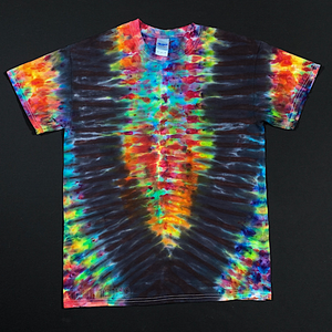 Size Medium Psychedelic Symmetry Ice Dye T-Shirt
