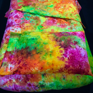 Pink, Orange, Yellow, Green Tie Dye Bedding Set