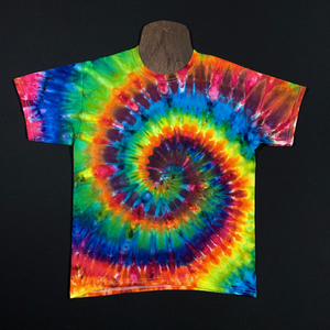 Youth Rainbow Spiral Ice Dye T-Shirt (XS-XL)