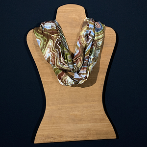 Natural Agate Geode Tie Dye Infinity Scarf