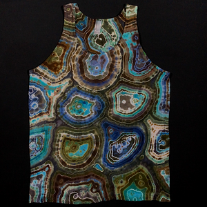 Size Medium Oceanic Geode Tie Dye Tank Top