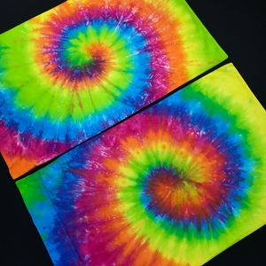 Neon rainbow tie dye bedding