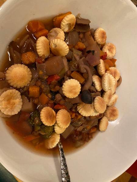Lentil Veggie Stew (Throat Punch or Hab Hop)