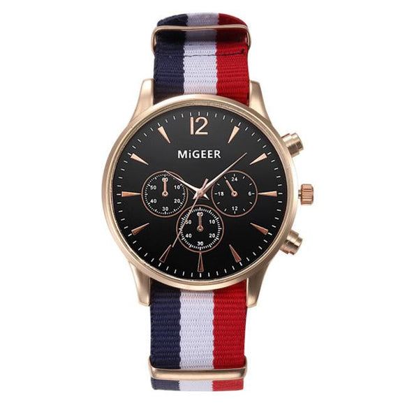 Luxury Fashion Canvas Mens Analog Watch
