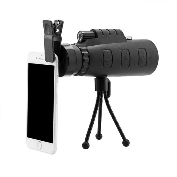 40x60 HD Optical Monocular Telescope Phone Lens with Phone Clip and Tripod
