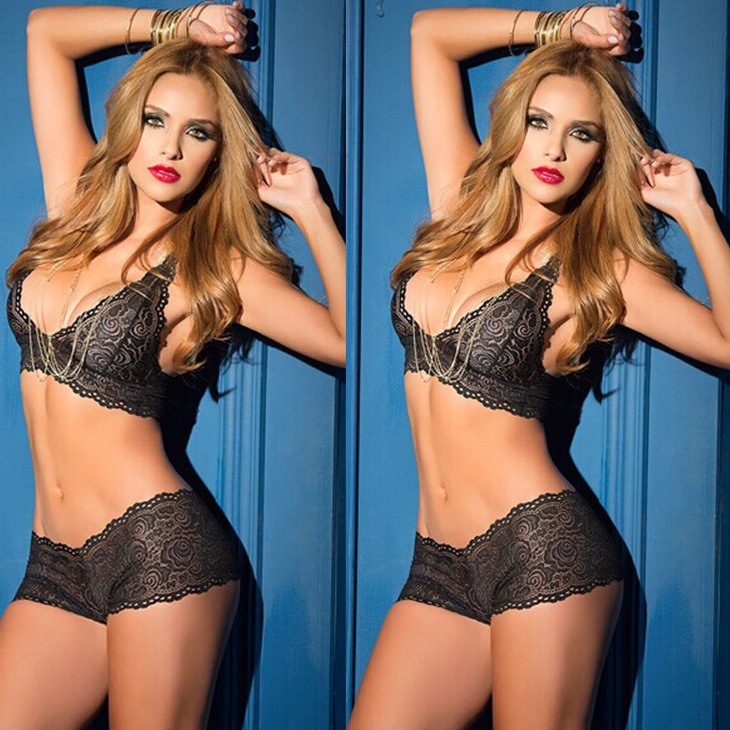 Hot New 2Pcs Sexy Lace Lingerie Set