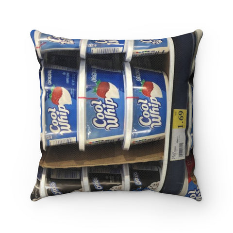 Cool whip Spun Polyester Square Pillow