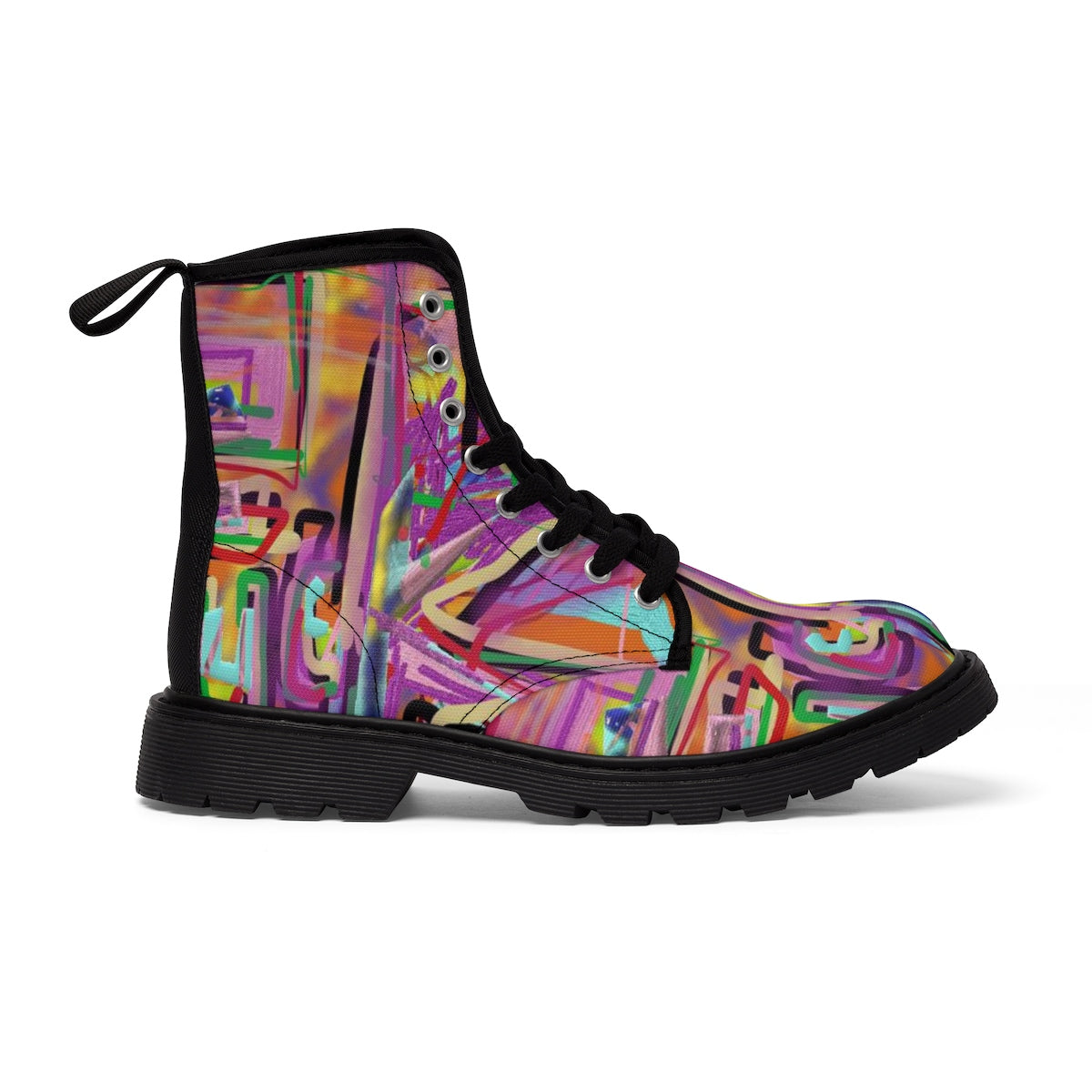 fuck paint 3d Men's Martin Boots