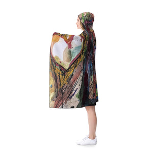 tempe town lake self portrait Hooded Blanket