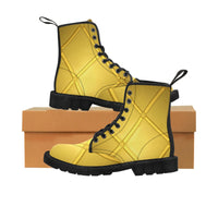 Black and yellow Men's Martin Boots