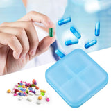 Portable PP 4 Grids Pill Box Household Drug Tablet Drugs Capsule Vitamin Medicine Holder Splitters Storage Organizer