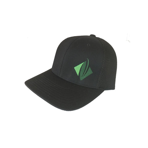 Evergreen Organix Black FlexFit Athletic Mesh Cap