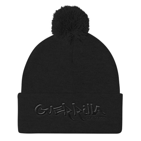 GC  flat embroidery Pom Pom Knit Cap