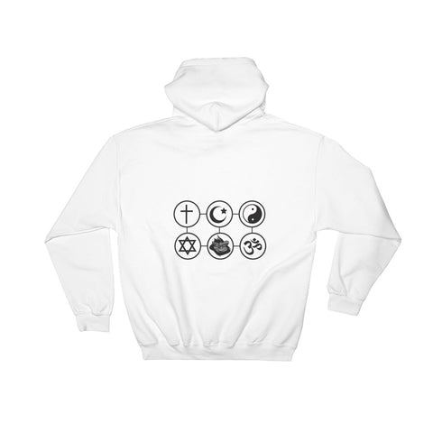 GC is my Religion White Hooded Sweatshirt
