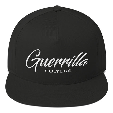Guerrilla Culture Script Flat Bill Cap