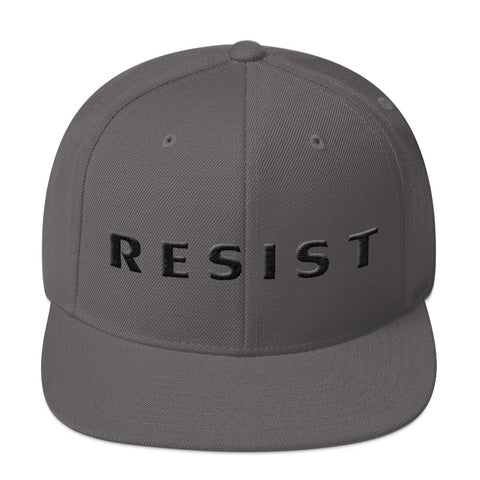 RESIST 3D puff embroidery Snapback Hat