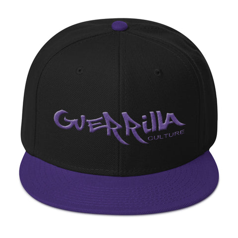 GC Purple  flat embroidery Snapback Hat