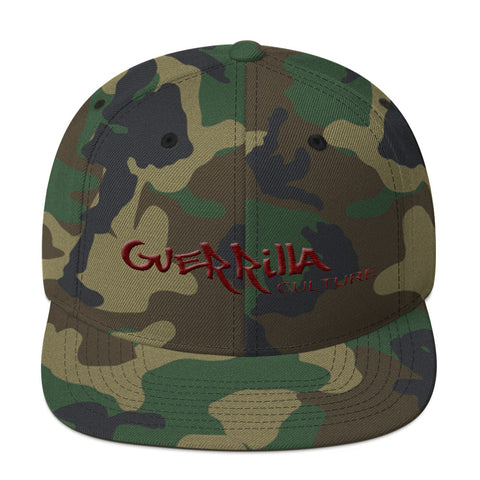 GC Camo flat embroidery Snapback Hat