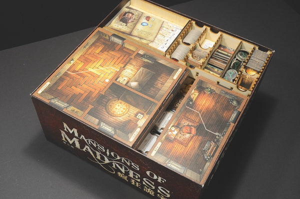 Wooden Insert - Mansion of Madness 2nd Edition 瘋狂詭宅(二版) 木製收納盒