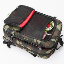 MAGMA DIGI CARRY-ON TROLLEY, CAMO-GREEN/RED