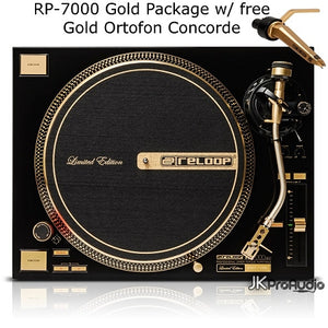 Reloop RP-7000 GLD Limited Edition GOLD Turntable Package