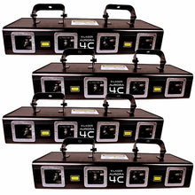 X-Laser Aurora 4C Quad Head Full Color Laser Club Pack (4 Pack)