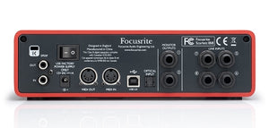 Focusrite Scarlett 18i8 rear